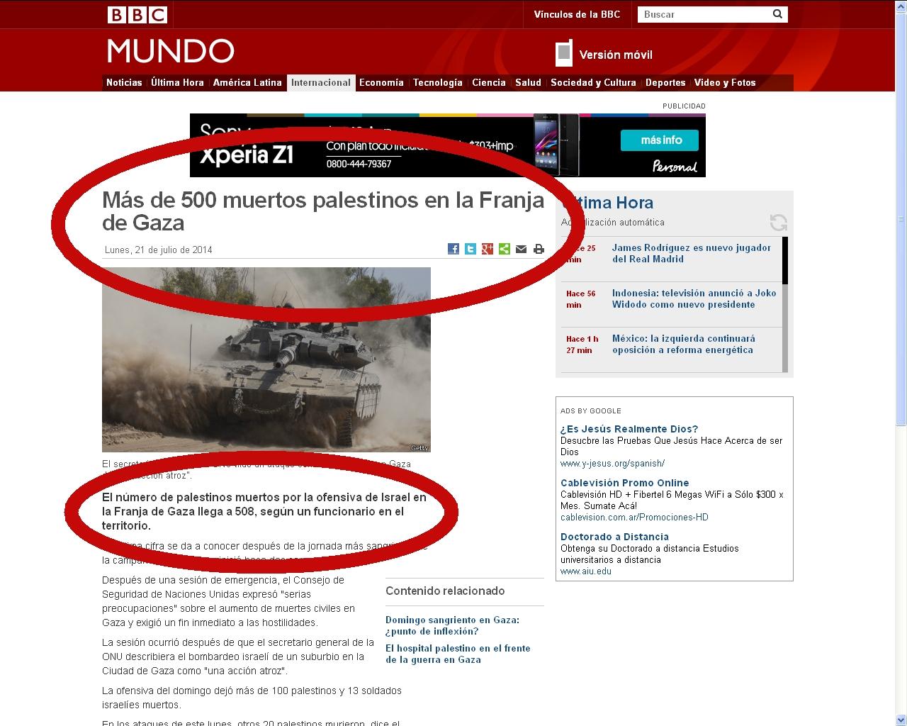 Gaza - BBC 21-07-14